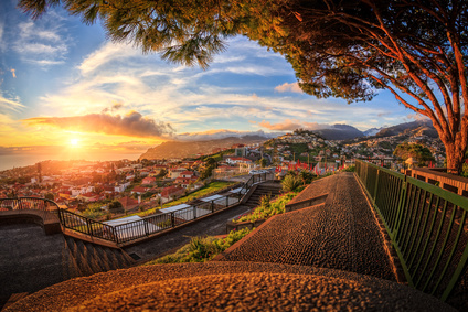 Sunset over Funchal (Madeira)