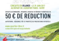 Bénéficiez de 50 € de réduction sur votre circuit en Irlande